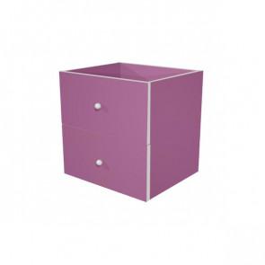 Coppia cassetti Libreria caselle Maxicube Artexport - 32,5x28,8x32,5 cm - viola scarlatto- 2c MaxC/S