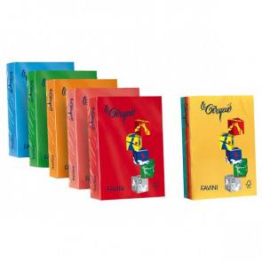 Carta colorata Le Cirque Favini 160 g/mq arancio A74E304 (risma250)