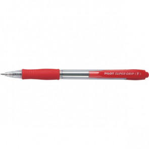 Penna a sfera a scatto Supergrip Pilot rosso 0,7 mm 001533