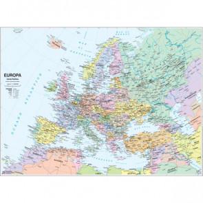 Carta geografica murale fisica e politica EUROPA Belletti 132x99 cm MS03PL