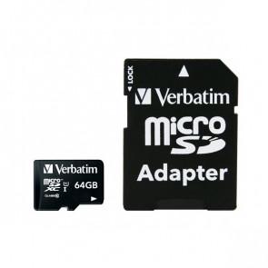 Flash memory card Verbatim - Micro SDHC Class 10 - 64 GB - 44084