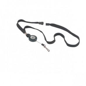 Cordoncino con meccanismo a chiocciola Durable nero 44 cm 80 cm 8223-01 (conf.10)