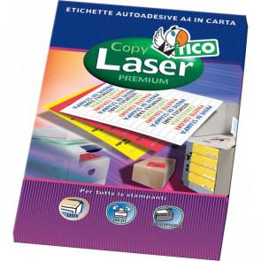 Etichette Copy Laser Prem.Tico fluo Las/Ink/Fot ang.arrot. 47,5x25,5mm giallo LP4FG-4725 (conf.70)