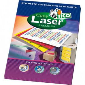 Etichette Copy Laser Prem.Tico fluo Las/Ink/Fot ang.arrot. 47,5x25,5mm rosso LP4FR-4725 (conf.70)