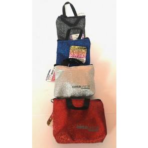 Portachiavi, portaoggetti glitterati a forma di borsetta - colori assortiti - Poolover