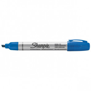 Marcatori permanenti Sharpie Metal Barrel small punta scalpello blu 4 mm S0945780