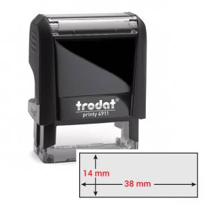 Timbro Original Printy 4.0 4911 38x14mm 4righe autoinch. personalizzabile TRODAT