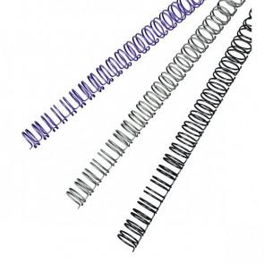 Dorsi metallici a 34 anelli GBC 6 mm 25 fogli nero RG810410 (conf.100)