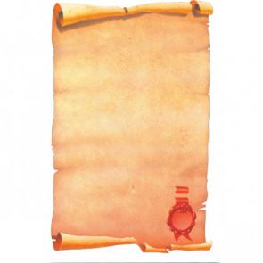 Carta a tema Decadry pergamena con sigillo 80 g SPF6634 (conf.25)
