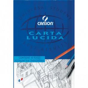 Blocco disegno carta lucida Canson A4 80/85 g/mq 10 200005825