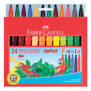 Pennarelli GRANDE FIESTA Faber Castell 1,3 mm 3+ 154012 (conf.12)
