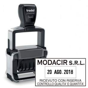Datario autoinchiostrante Professional Trodat 5440 (2 righe + 2 righe) 120502