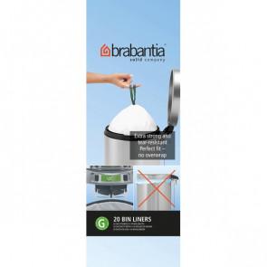 Sacchetti con manici Brabantia 30 l bianco 246265 (conf.20)