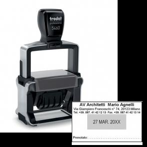 Datario autoinchiostrante Professional Trodat 5460 (3 righe + 3 righe) 120362