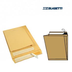 Blasetti 10 Buste A Sacco Avana 250X353X40Mm Con Soffietti E Strip Monodex
