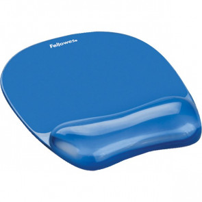 Mousepad con poggiapolsi Crystal Gel Fellowes azzurro 23,5x23x1,5 cm 91141