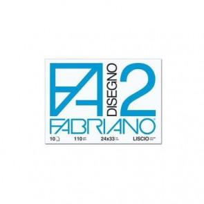 Album da disegno Fabriano F2 a punti metallici 110 g/m² 20 24x33 cm ff. lisci 04204310