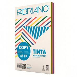 FABRIANO CARTA COPY TINTA MULTICOLOR A4 80gr 250fg mix 5 colori forti (scatola 10 risme)