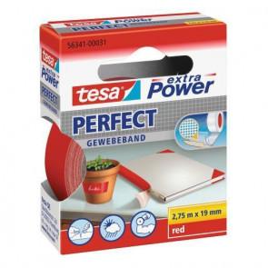 Nastro adesivo in tela tesa extra PowerPerfect plastificato 19 mm x 2,75 m rosso - 56341-00031-03