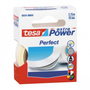Nastro adesivo in tela tesa extra PowerPerfect plastificato 19 mm x 2,75 m bianco - 56341-00028-03
