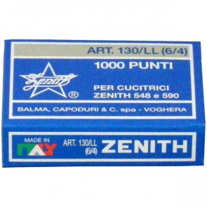 Punti metallici ZENITH 130/LL 6/4 Conf. 1000 pezzi - 0301306401