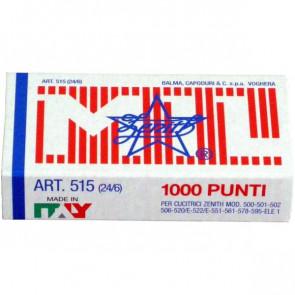 Punti metallici ZENITH 515 24/6 Conf. 1000 pezzi - 0305151601