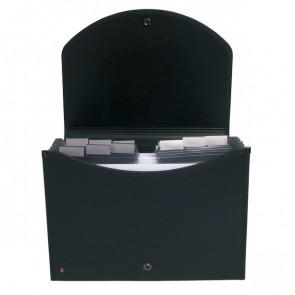 Classificatore a valigetta Exacase Exacompta - 13 - nero - 55934E