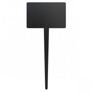 Targhe con marcatore Securit - 24,7x15 cm - rettangolare - nero - TAG-RECTANGLE-5 (conf.5)