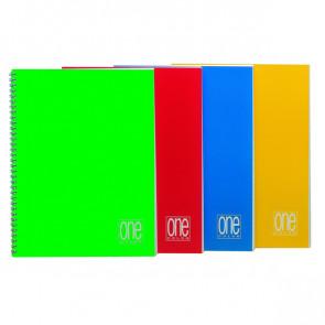 MAXI QUADERNO A4 SPIRALATO 5MM S/FORI 80GR 60FN ONE COLOR BLASETTI (CFZ 5)