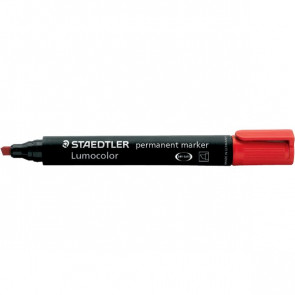 Marcatore Lumocolor Permanent Staedtler nero a scalpello 2-5 mm 350-9