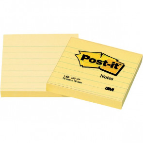 Post-it® Note Giallo Canary a righe giallo canary 76x76 mm righe 630-6PK (conf.6)