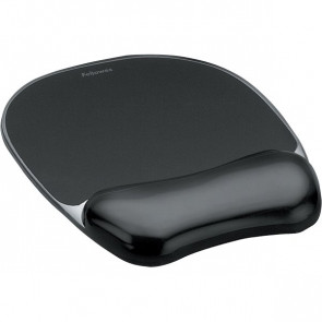 Mousepad con poggiapolsi Crystal Gel Fellowes nero 23,5x23x1,5 cm 9112101