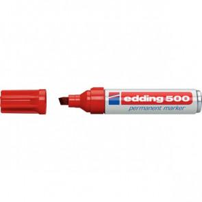 Marcatore permanente 500 Edding rosso scalpello 2-7 mm 500 002