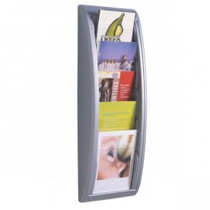 Modulo a 5 tasche f.to A5 Paperflow 22,8x9,5x65 cm alluminio 4063.35