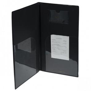 SECURIT PORTACONTO 23,7x12,5cm NERO in PVC BASIC con 4+2 BUSTE FISSE
