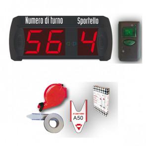 Kit Completo Eliminacode Multifunzione (2 Numeri + 9 Sportelli) Printex