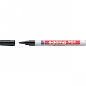Marcatore permanente a vernice Edding nero tonda 1-2 mm 751 001