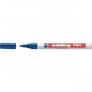 Marcatore permanente a vernice Edding blu tonda 1-2 mm 751 003