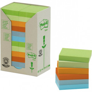 Post-it® Note in carta riciclata assortiti pastello 38x51 mm 653-1RPT (conf.24)