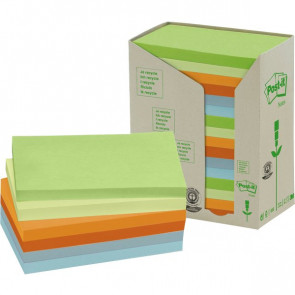 Post-it® Note in carta riciclata giallo assortiti pastello 127x76 mm 655-1RPT (conf.16)