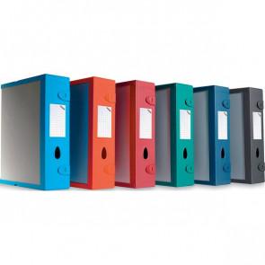 Scatola Archivio Combi Box E500 Fellowes Dorso 9 mm blu navy E500BN