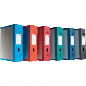 Scatola Archivio Combi Box E500 Fellowes Dorso 9 mm rosso E500RO