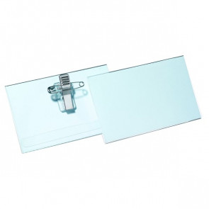 Portabadge con clip e spilla in metallo Durable 5,4x9 cm 8145-19 (conf.50)