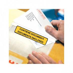Buste autoadesive portadocumenti WillChip scritta 22x16 cm 24x18 cm 240180100S (conf.100)