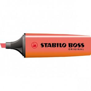 Scatola cartone evidenziatori Stabilo Boss Original rosso 2-5 mm 70/40 (conf.10)