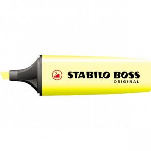 Scatola cartone evidenziatori Stabilo Boss Original giallo 2-5 mm 70/24 (conf.10)