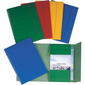 Cartelle 3 lembi plastificate Esselte blu 390346050 (conf.5)