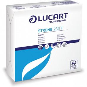 Tovaglioli bianchi in carta Lucart 33x33 cm 2 veli 832001 (conf.75)