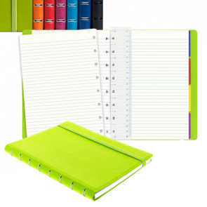 Notebook f.to A5 a righe 56 pag. fucsia similpelle Filofax