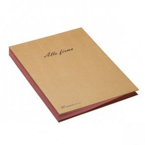 Libro firma 18 intercalari riciclabile Fraschini 22x34 cm avana 618-ECO